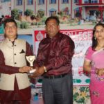 Mr. & Miss of College with Principal Dr. Sanjay Sharma