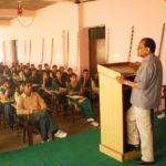 Dr. Anant Ram delivering an extension lecture in college