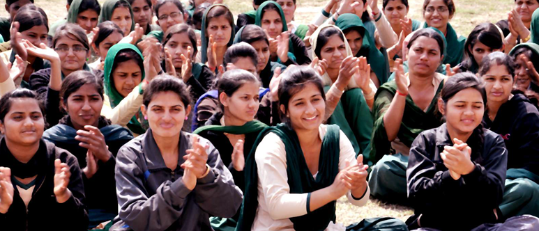 Students of College Cheering up their team during an event