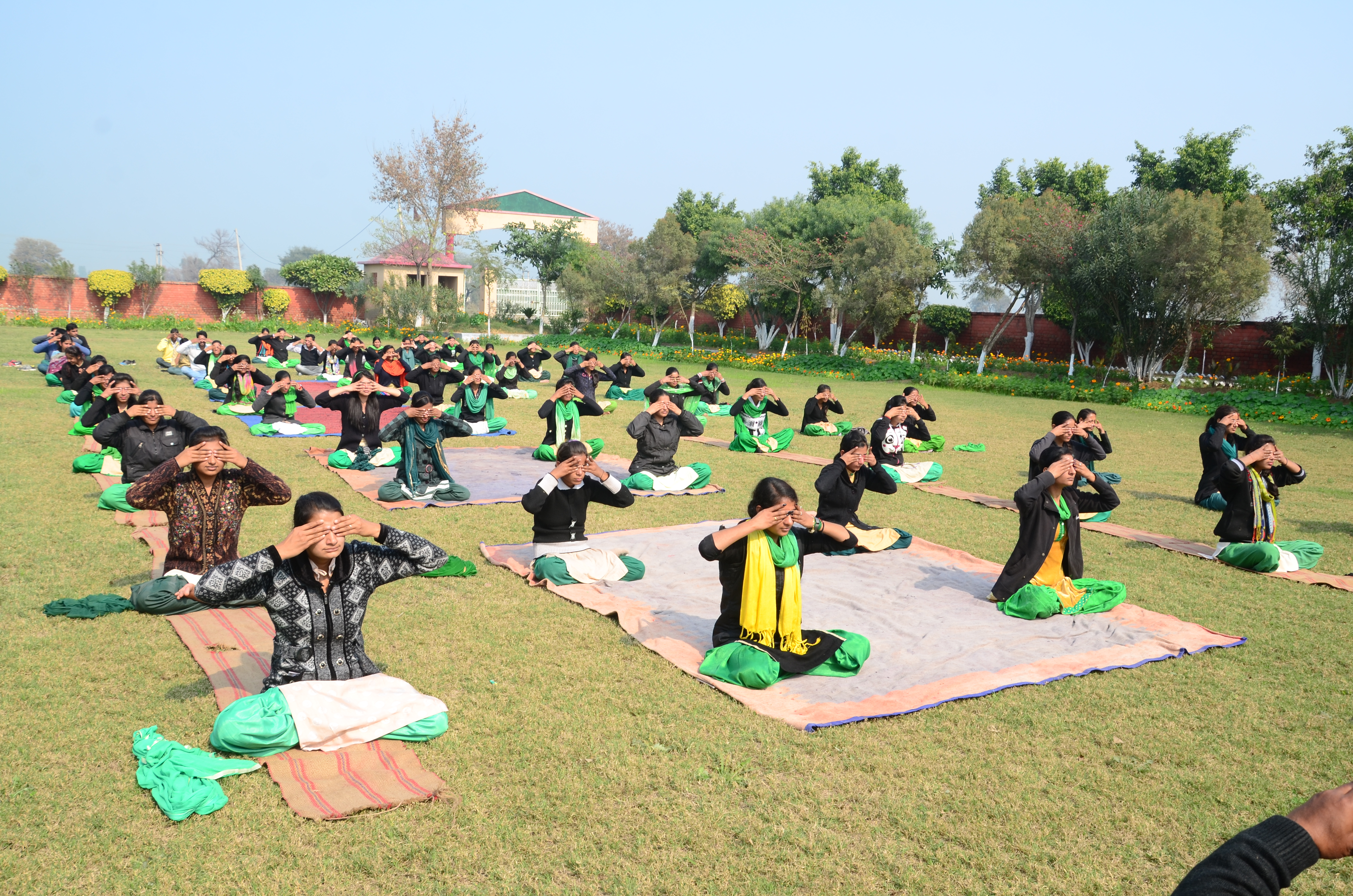 Student of City College during Yoga Session