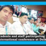 Students and Staff Participating in international conference at Delhi